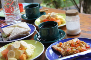 バリのホテルの朝食