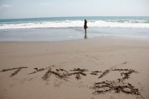 インドネシアの海岸にて