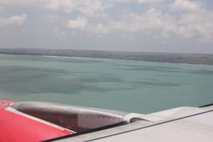 空から見た海とバリ