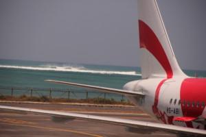 空港から見える海