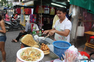 バンコクの屋台料理