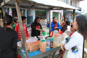 ネパールのお菓子の屋台