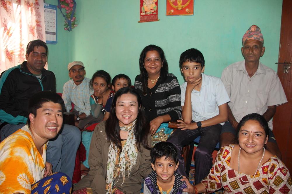ネパールの友人宅にて
