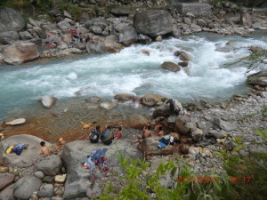 ネパール奥地の天然温泉