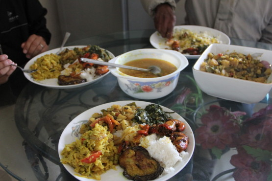 バングラデシュの家庭料理
