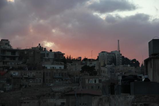 ヨルダンの夕焼け