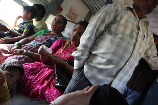 インドの列車の中