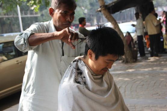路上散髪屋さん体験