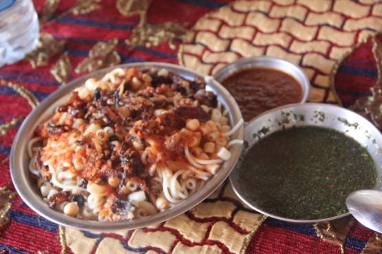 コシャリとモロヘイヤスープ エジプトフード
