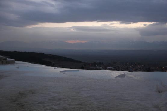 パムッカレからの日没
