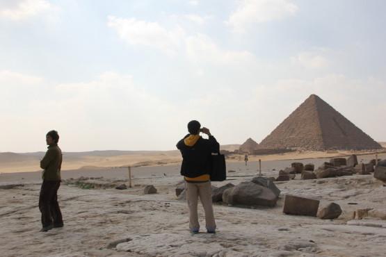 ピラミッドを撮りまくる
