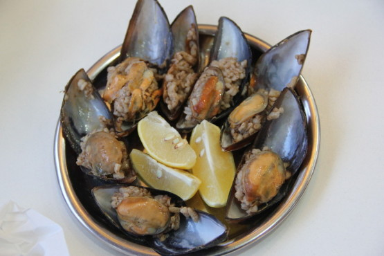 貝に入った炊き込みご飯
