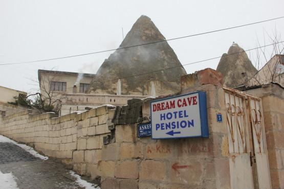 洞窟ホテルへ
