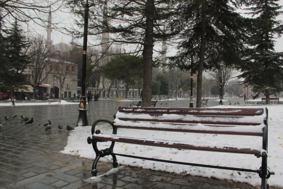 ブルーモスク前の公園