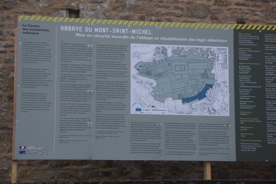 モンサンミシェルの敷地内案内図