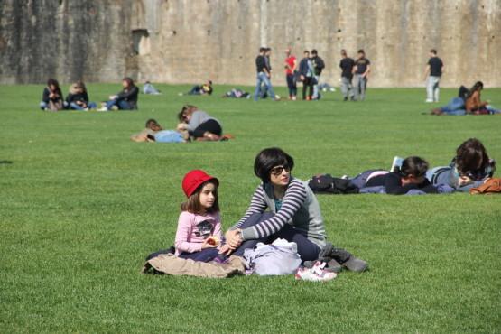 ピサの斜塔の敷地内