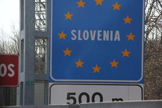 スロベニアに入国