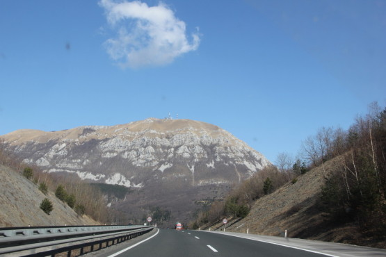 スロベニアをドライブ中