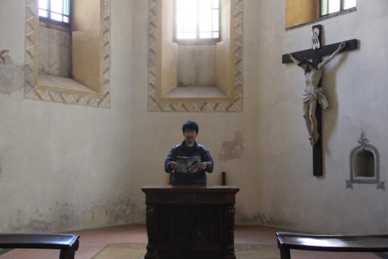 スロベニアの教会にて