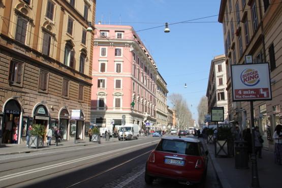 ローマ市内散策中